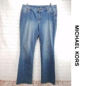 MICHAEL KORS Straight Leg Light Wash Jeans